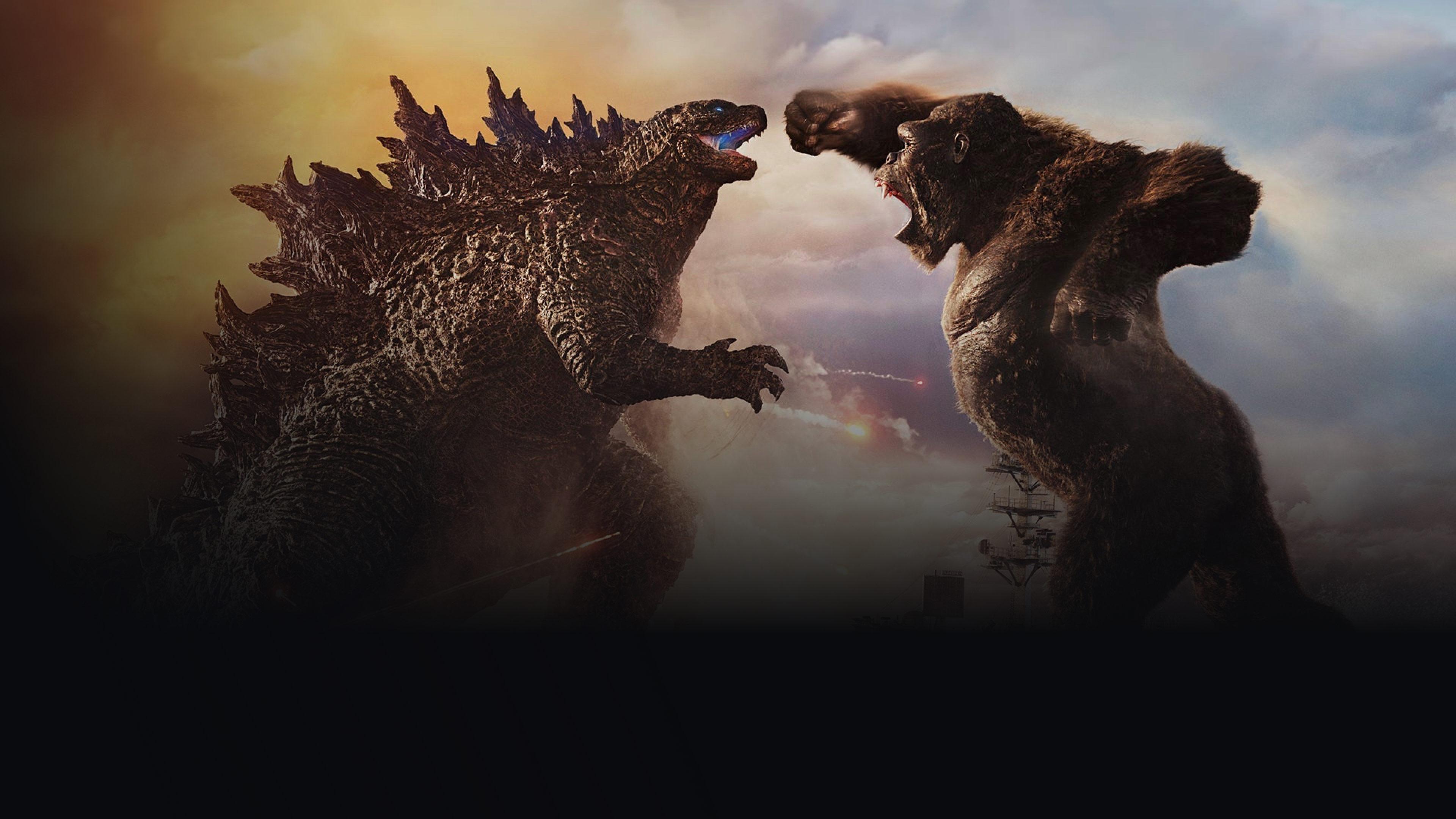 Background image featuring Godzilla vs Kong