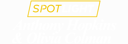 Anthony Hopkins and Olivia Colman title treatment