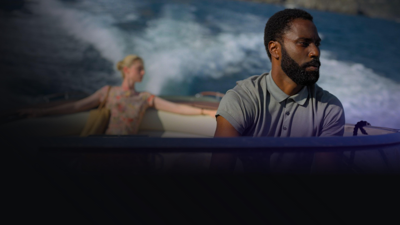 Tenet promo image featuring John David Washington