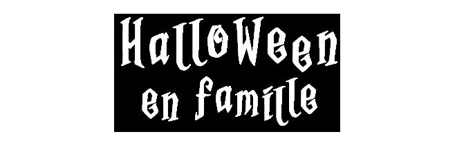 Titre d'Halloween en famille