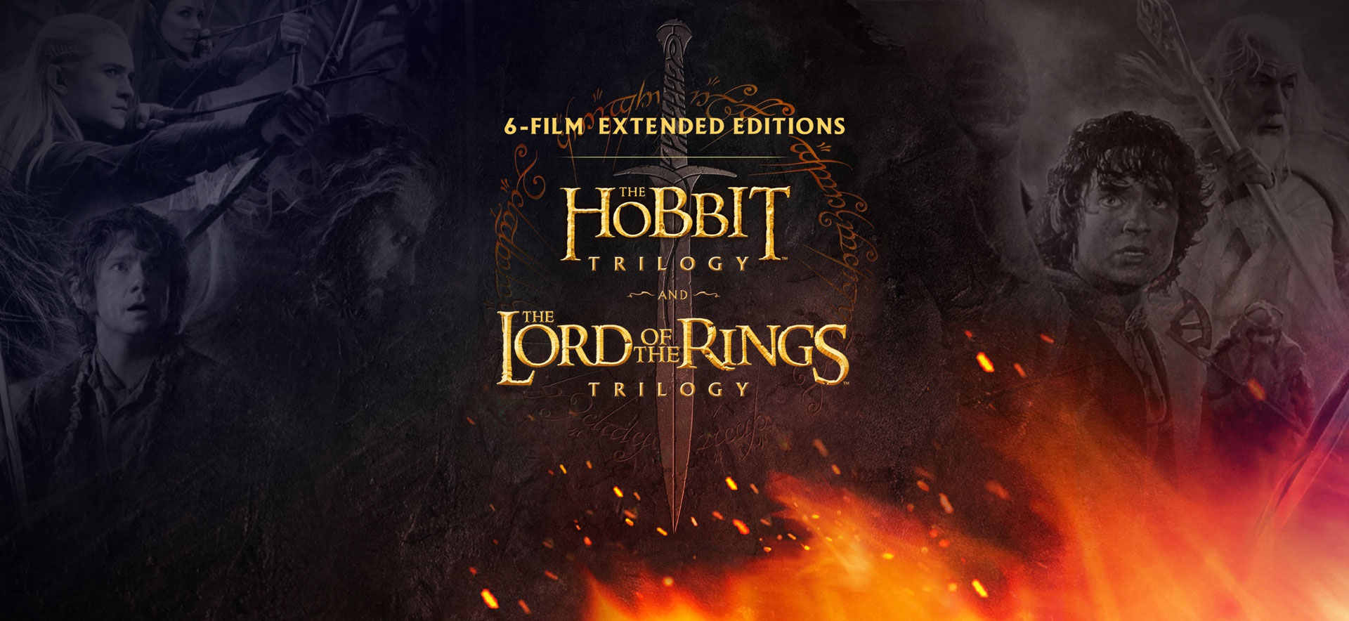 feature image for The Lord of The Rings and The Hobbit 6 Film collection