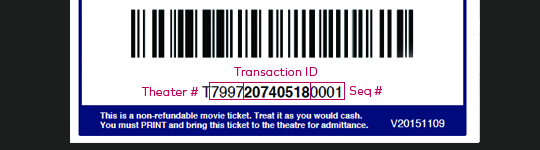 Image of Self Print Ticket